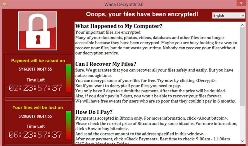 Niet huilen als je besmet bent met WannaCry-ransomware