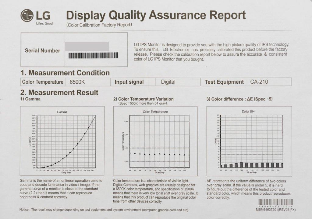 lg kalibratie rapport