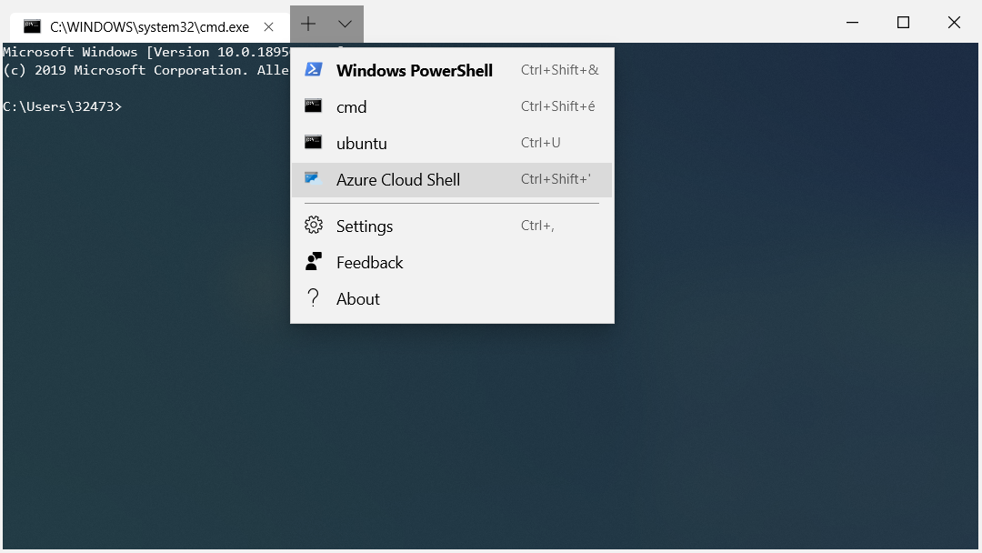Azure Cloud Shell connector