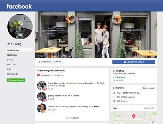 facebook pagina de gusting