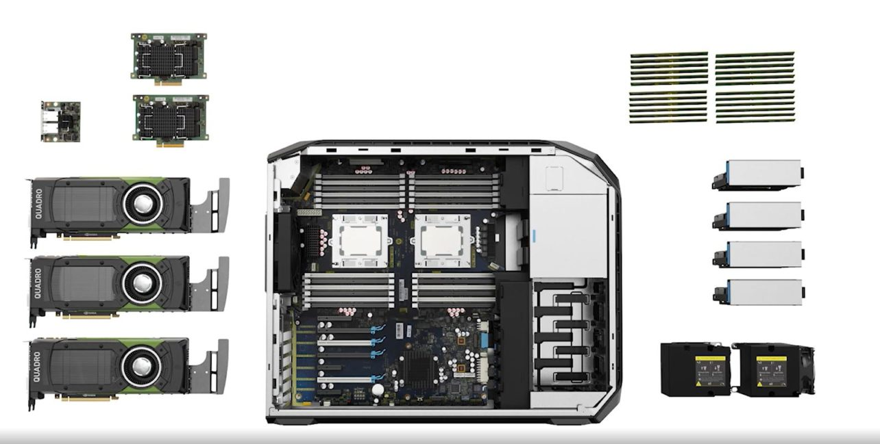 HP Z8 exploded