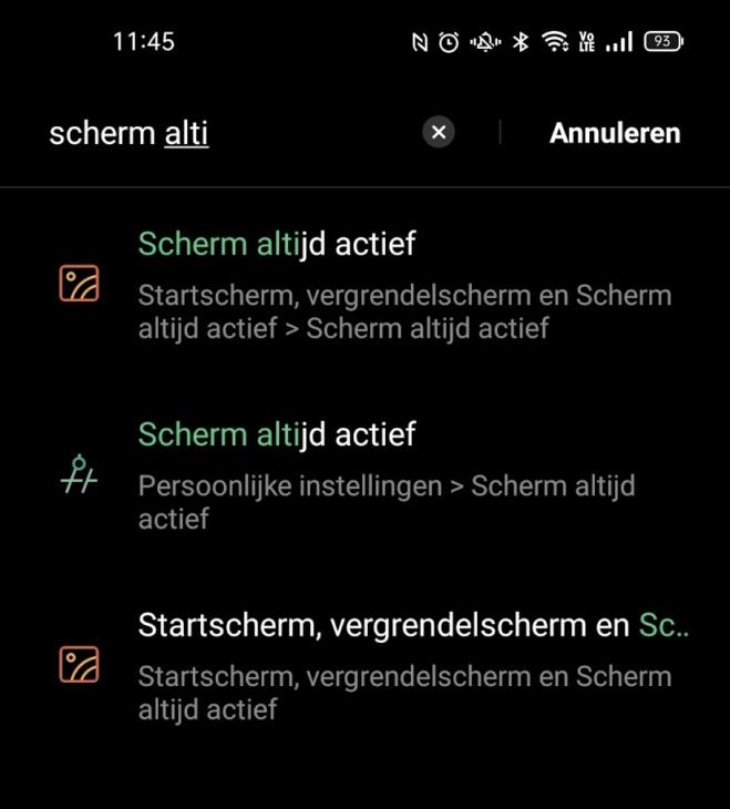 Oppo Find X3 Pro -Menu