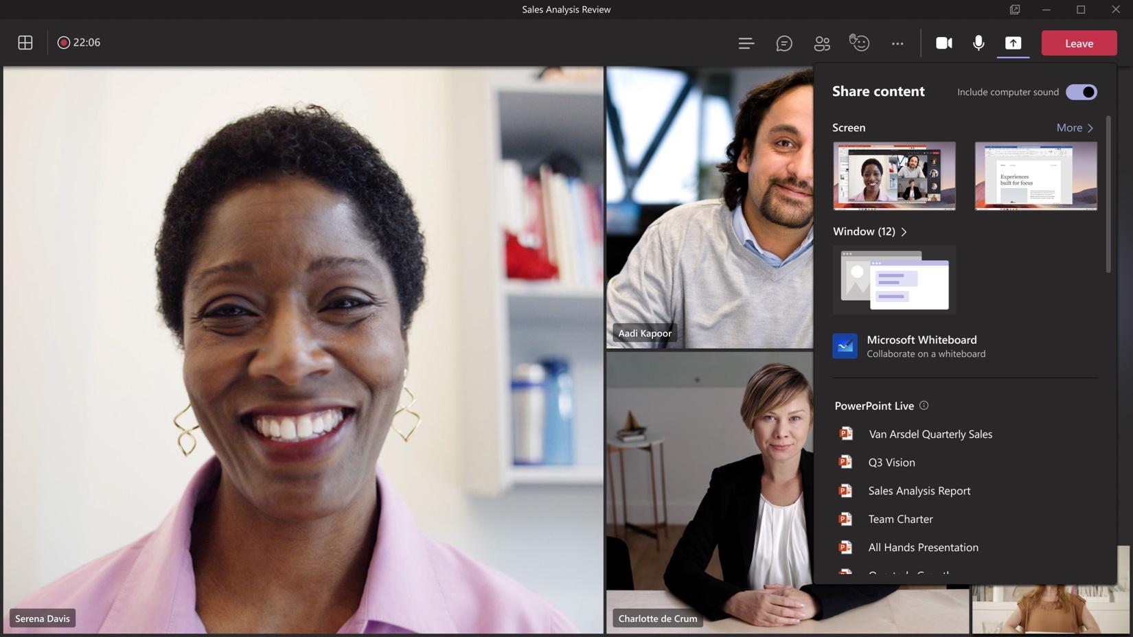 Microsoft Teams scherm delen