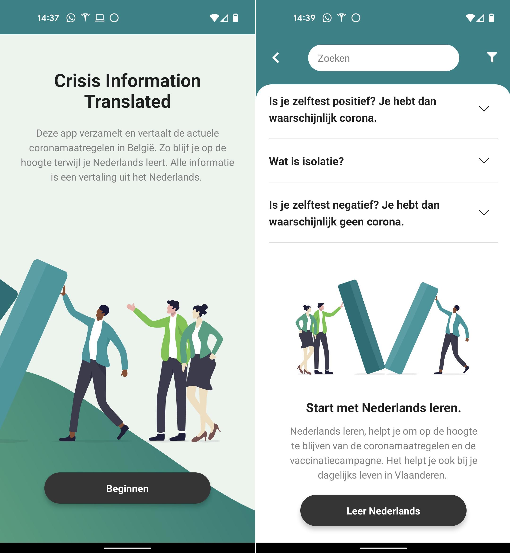 Crisis Information Translated app