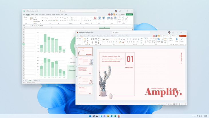 Office 2021 Excel en PowerPoint