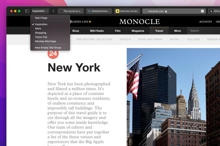 Montery Safari redesign