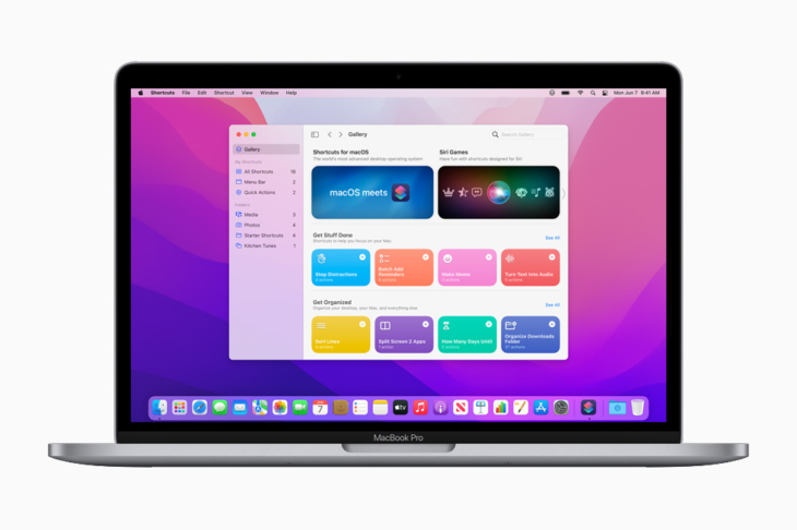 Apple macOS Monterey Shortcuts