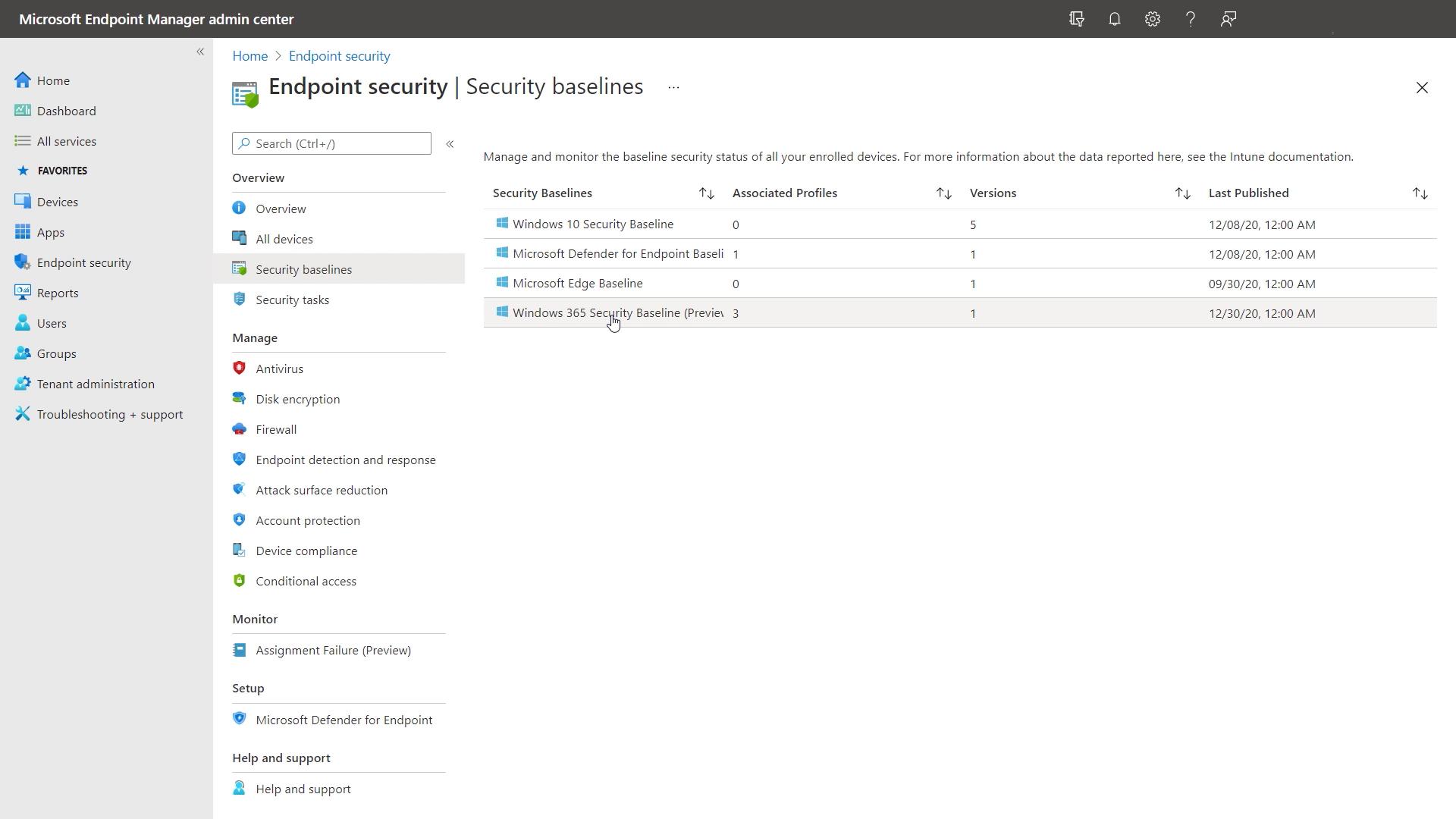 Windows 365 Cloud PC security baseline