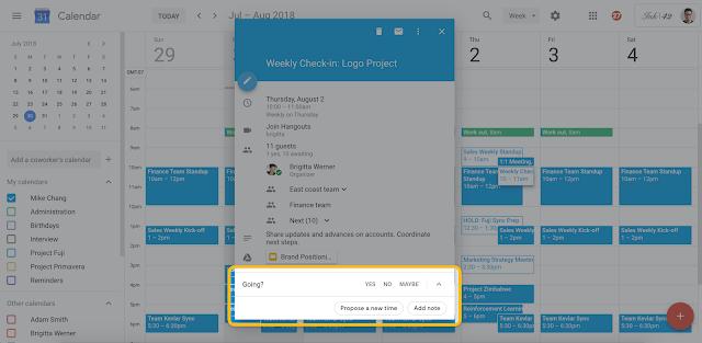 Google Calendar - Propose new time