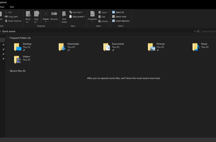 donker thema Windows Verkenner