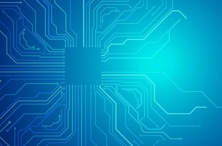 blauwdruk intel chip