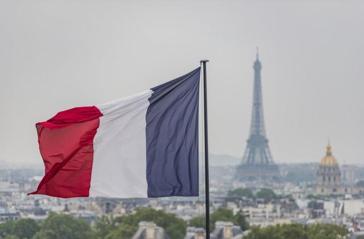 franse vlag parijs